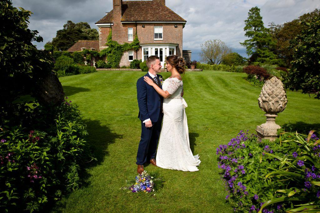 bride & groom wedding dress