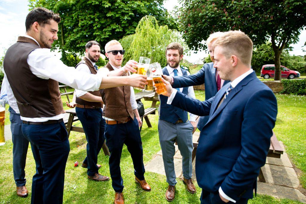 beer groom best man drink