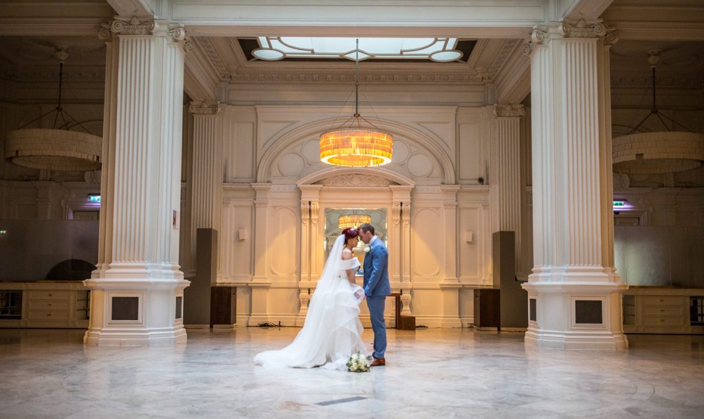 wedding, married, bride, groom, Andaz Hotel, dance, hall