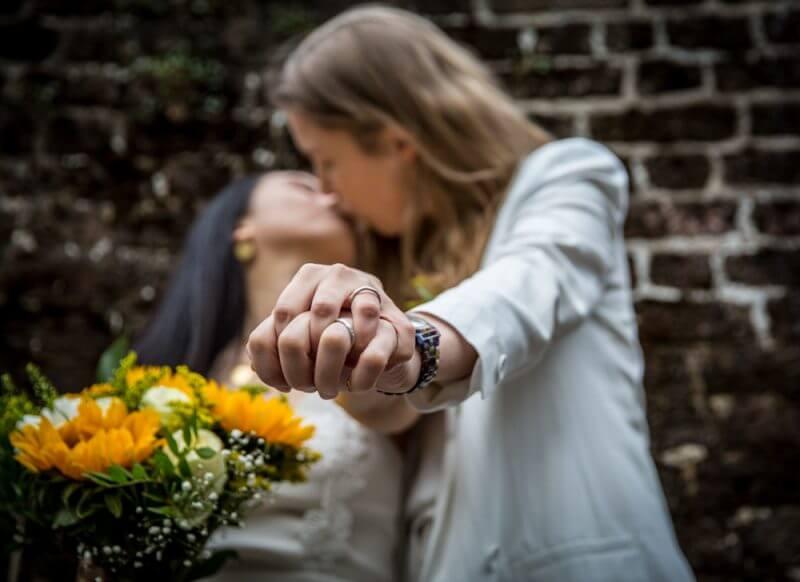 wedding, brides, two bride