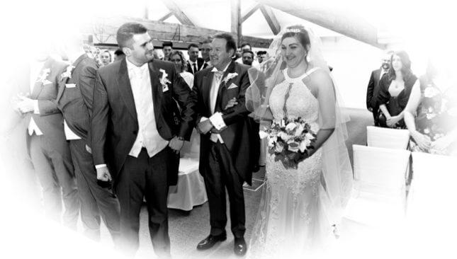 bride groom wedding wedding ceremony father