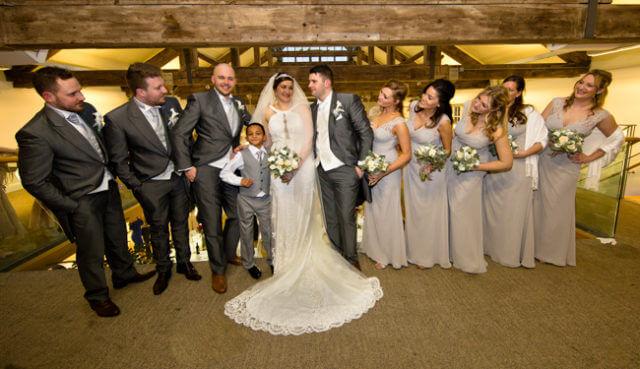 bride groom family bridesmaids best men man