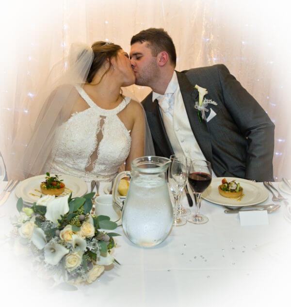 bride groom kiss kissing wedding