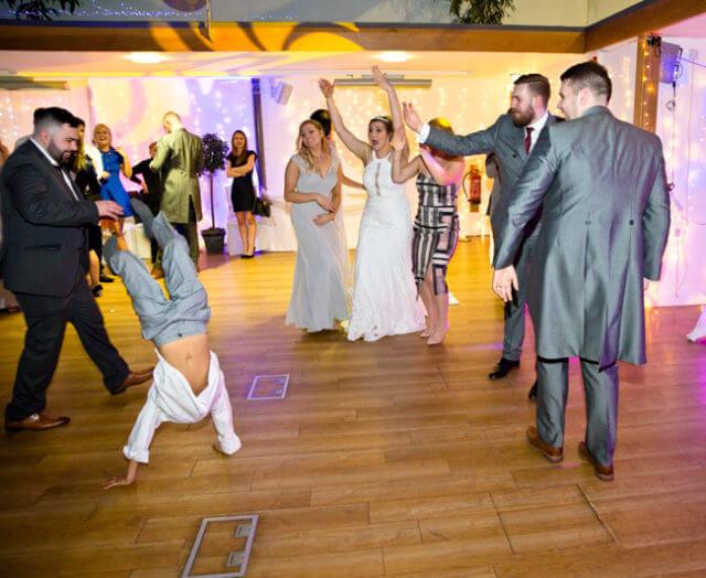 son dance break dance wedding groom
