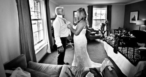Michelle wedding bride dad tie