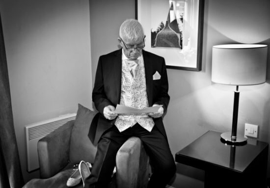 father dad speech hotel room wedding read