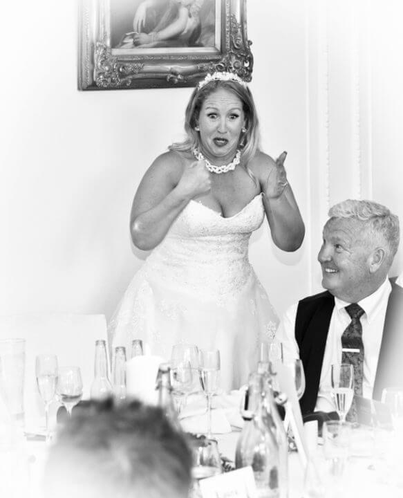 Laughter wedding breakfast