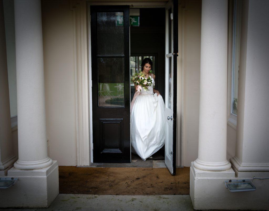 bride wedding dress flowers bouquet