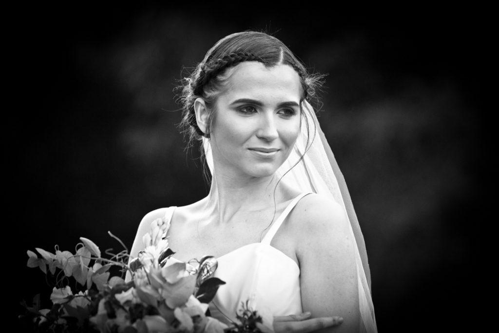 wedding model flowers bride