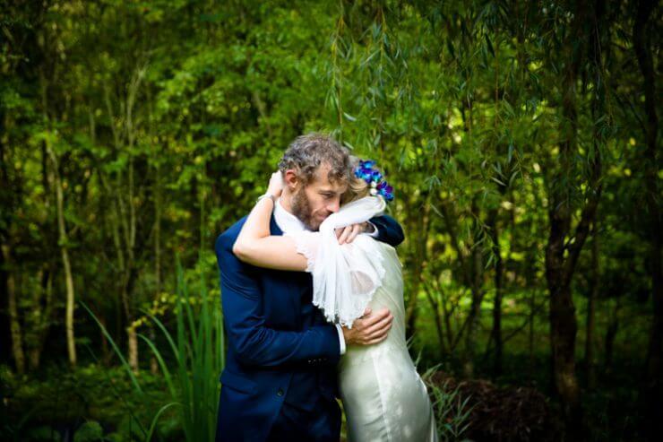 just married bride groom