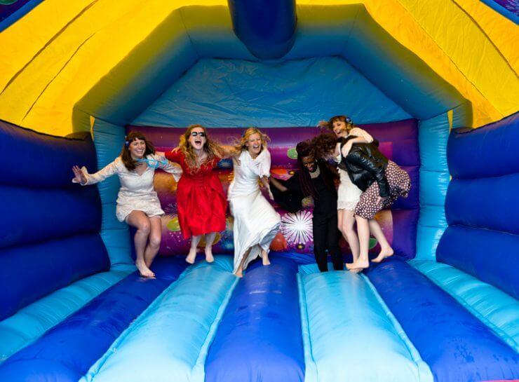 jump bride bouncy castle