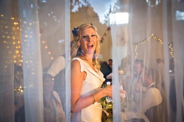 wedding bride net curtains