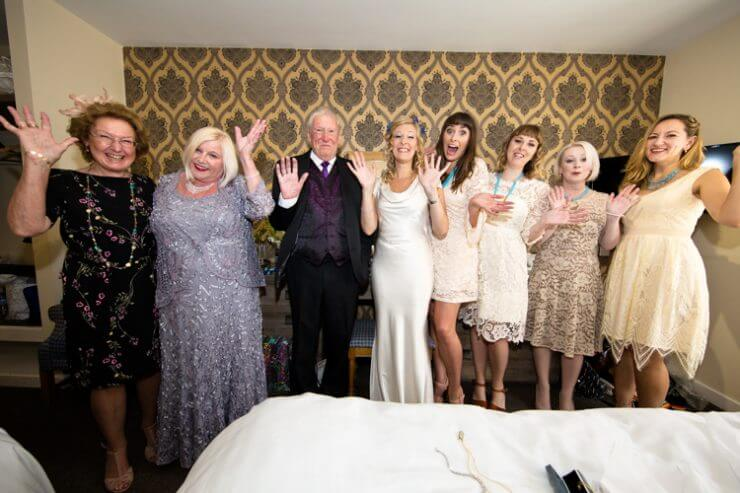 bride father bridesmaids