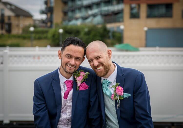 wedding, gay, docks, canary, wharf