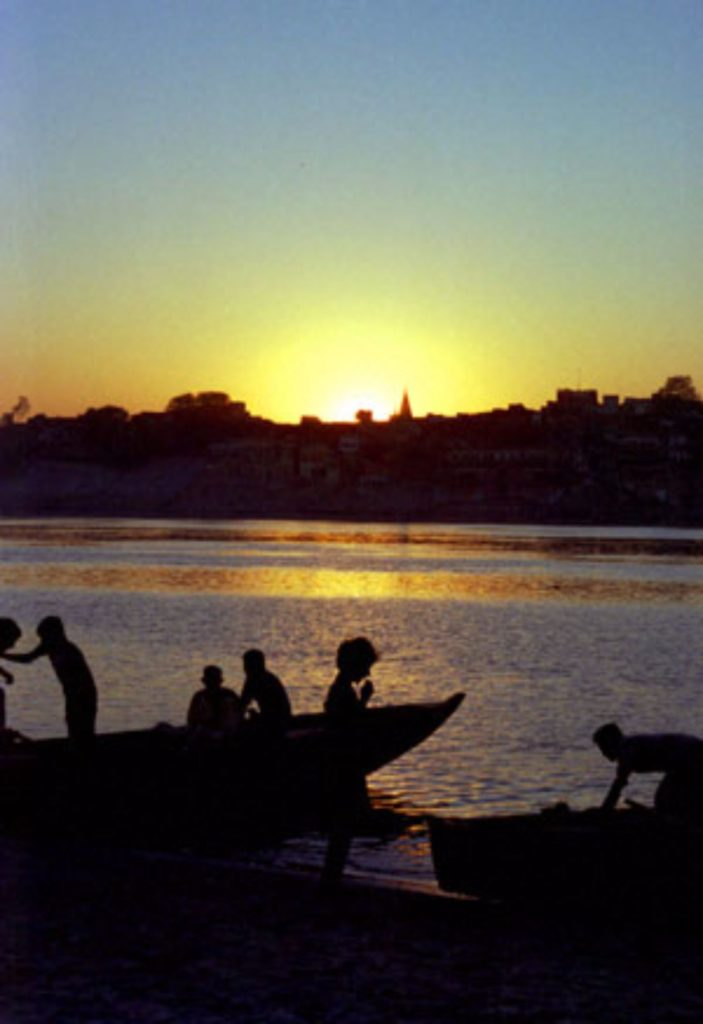 Sun set Varanasi India