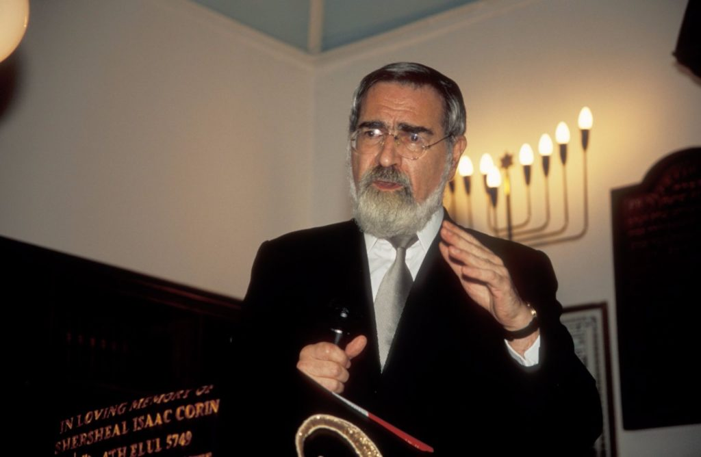 Former chief rabbi Jonathan Sachs