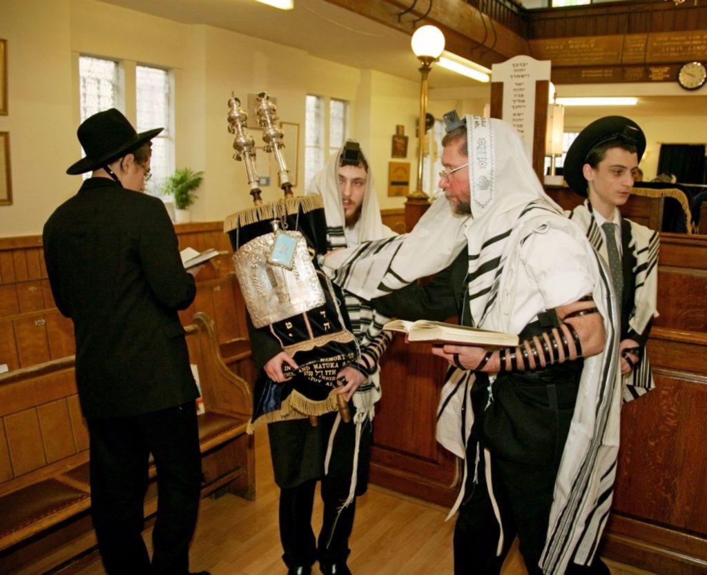 Touching Torah Synagogue