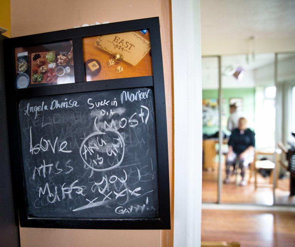 bride mum kitchen blackboard sign