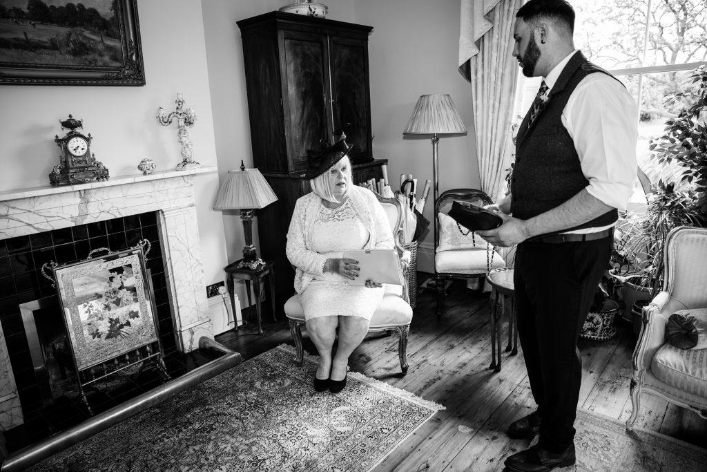 bride wedding brother