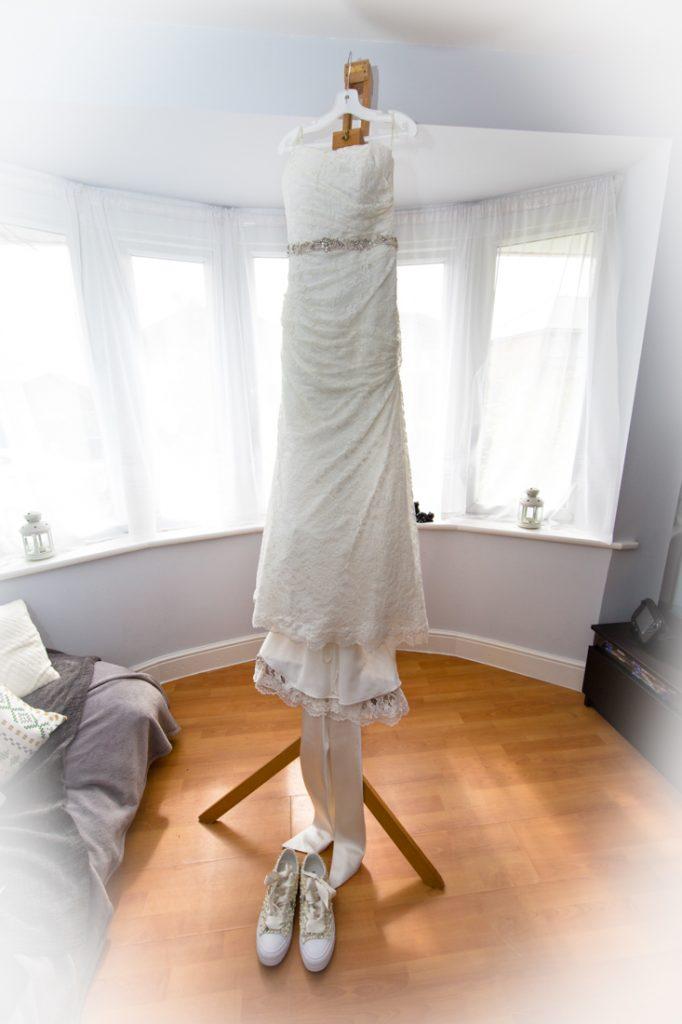wedding dress bedroom