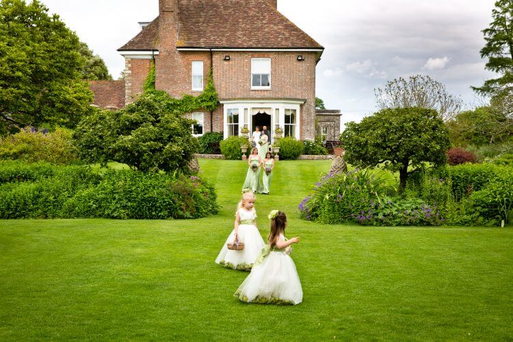 flower girls English garden
