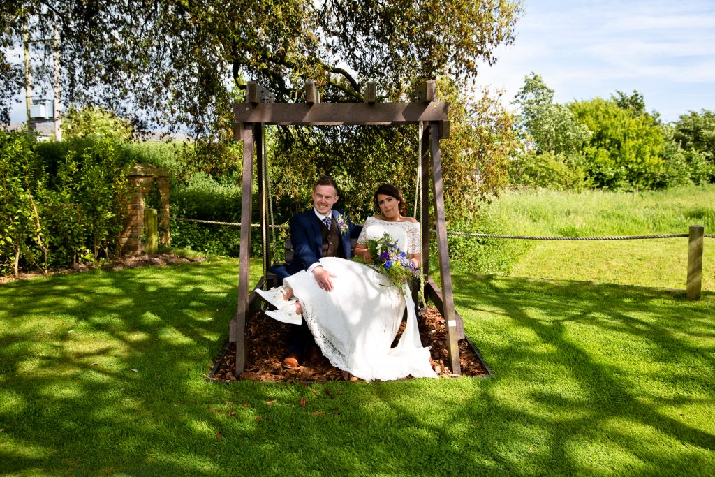 bride groom grounds swing chair