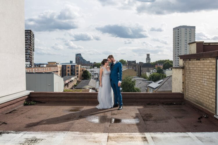 Carly & Kelv's wedding on the roof top