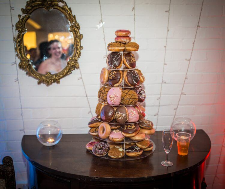 Carly & Kelv's wedding donut tree doughnut