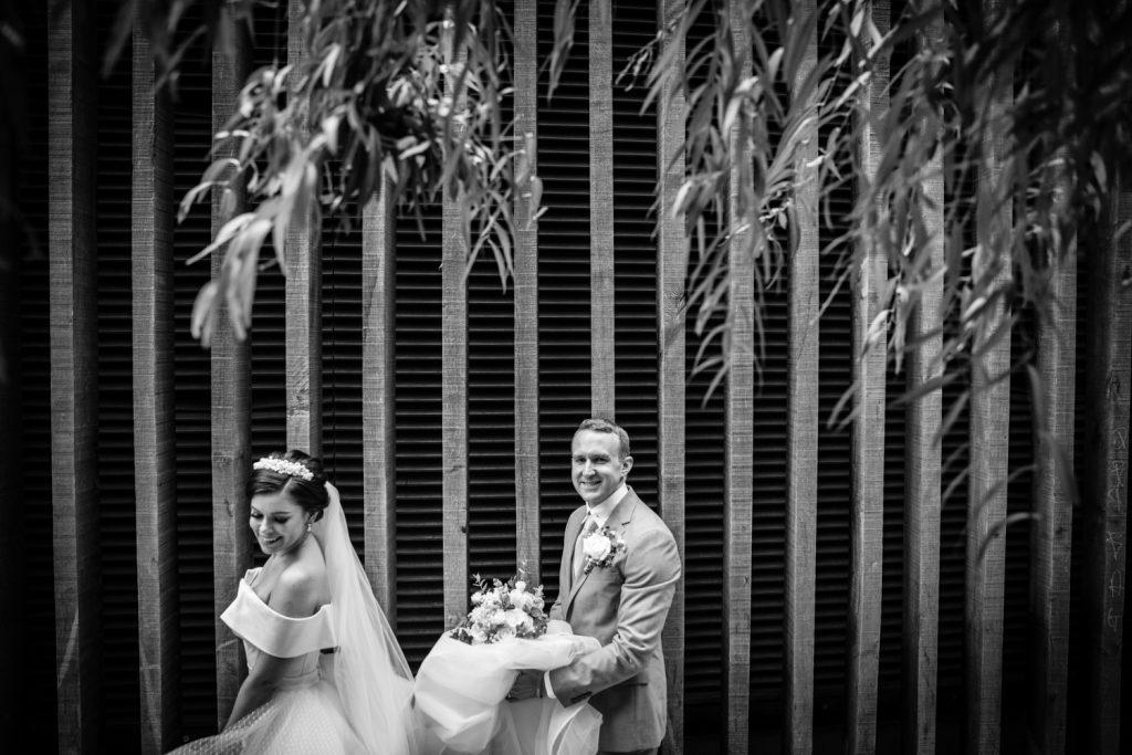 dress, wedding, married, bride, groom, Andaz Hotel,