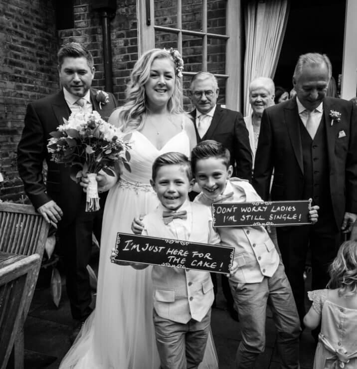 Bride & groom just got married.