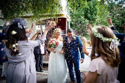 bride groom confetti