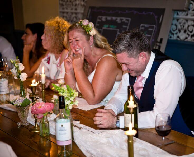 Wedding guests at the George Belsize Park