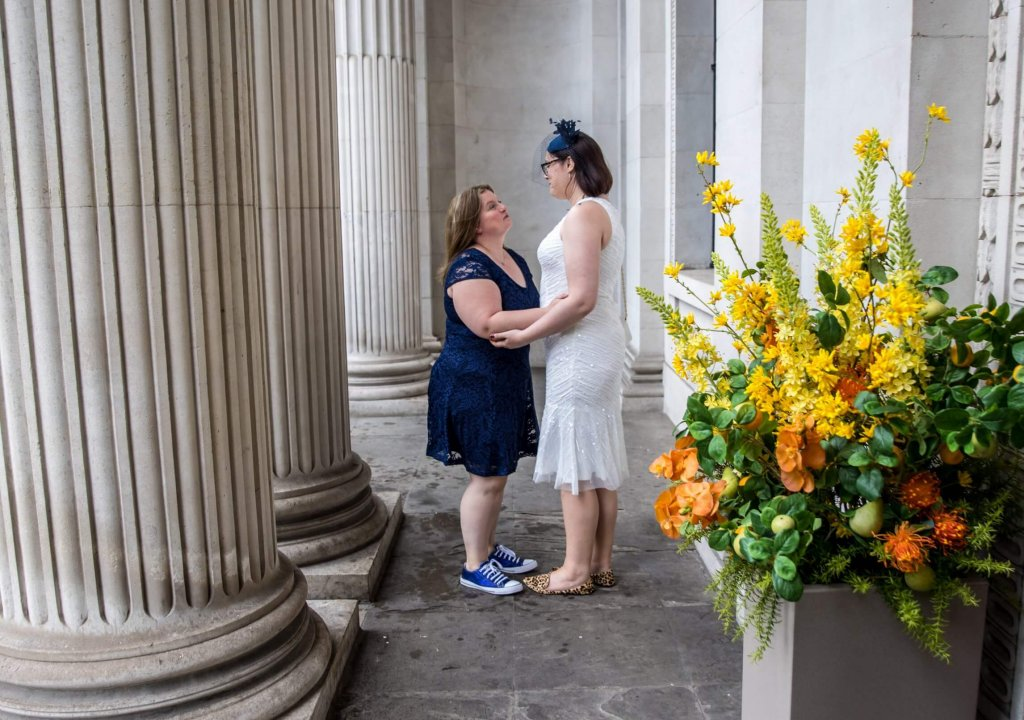 Deborah & Laura's wedding, Marylebone, town, hall