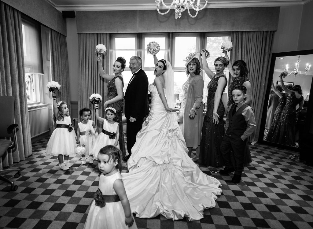 Elaine bride with her bridal party