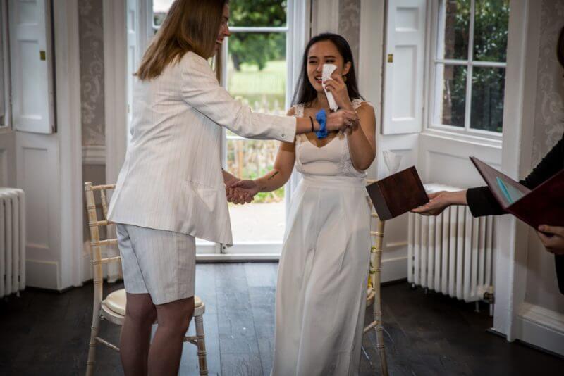 gay, wedding, two bride, brides.