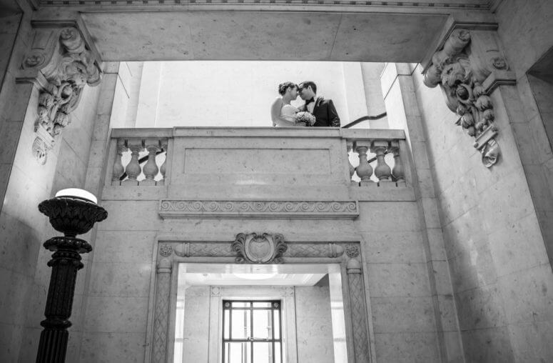 Bride & Groom at Marylebone Magistrates office London