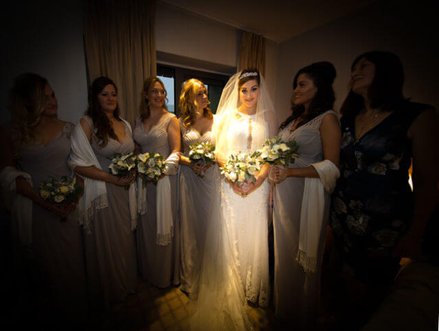 bride bridesmaids room hotel