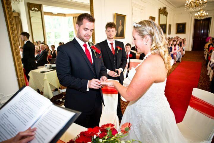 bride groom best man ring