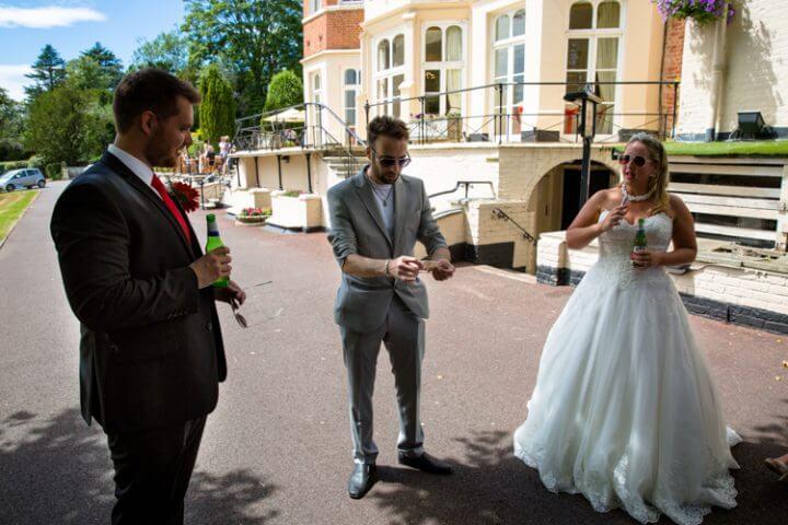 wedding magician bride