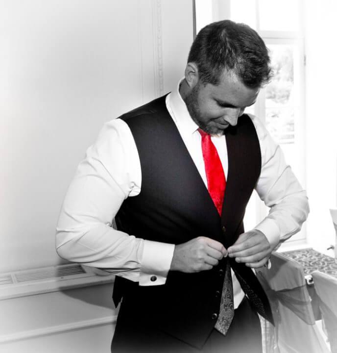 groom tie red waistcoat