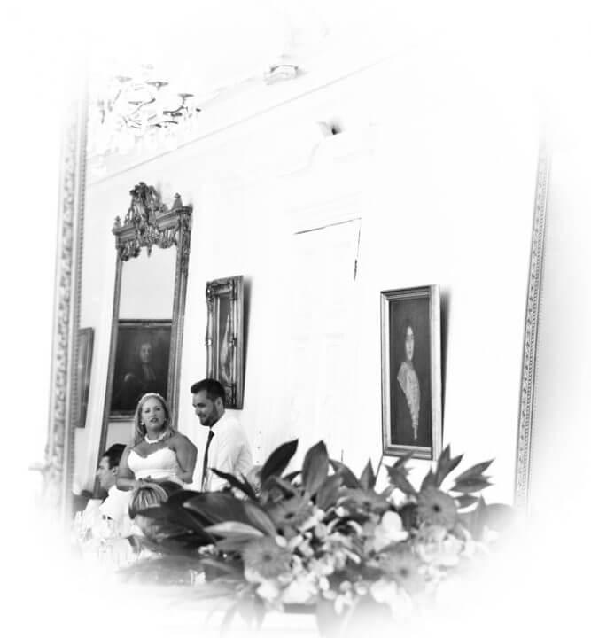 mirror bride groom