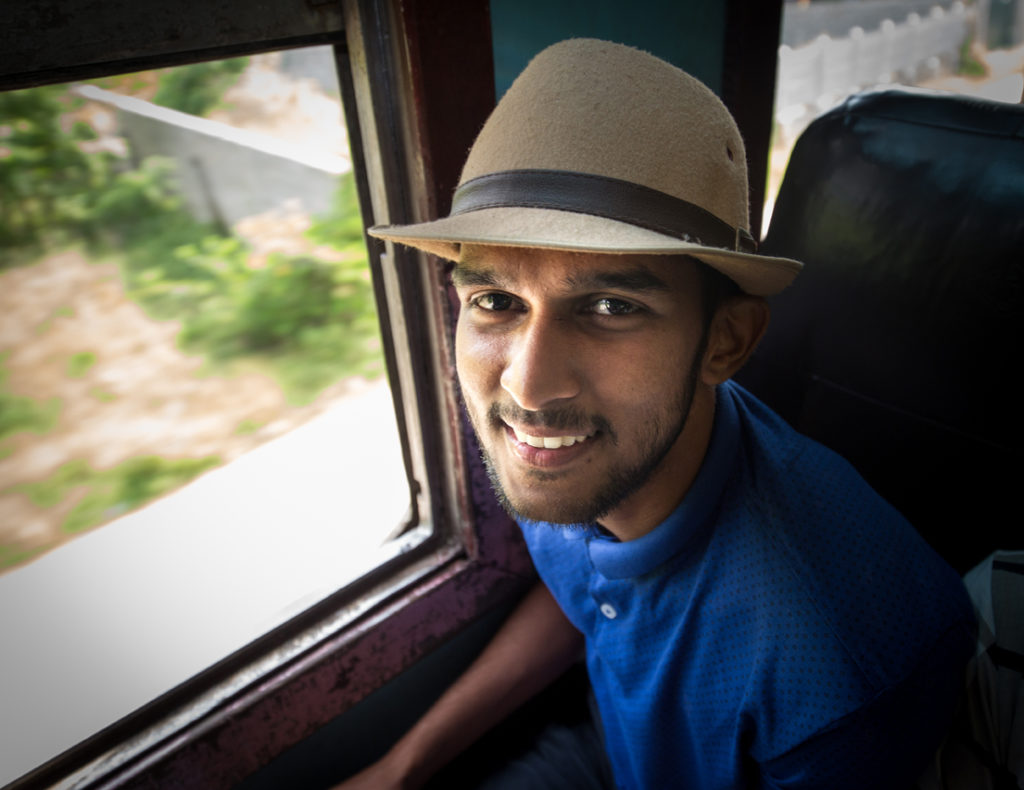 Passenger on a train Sri Lanka