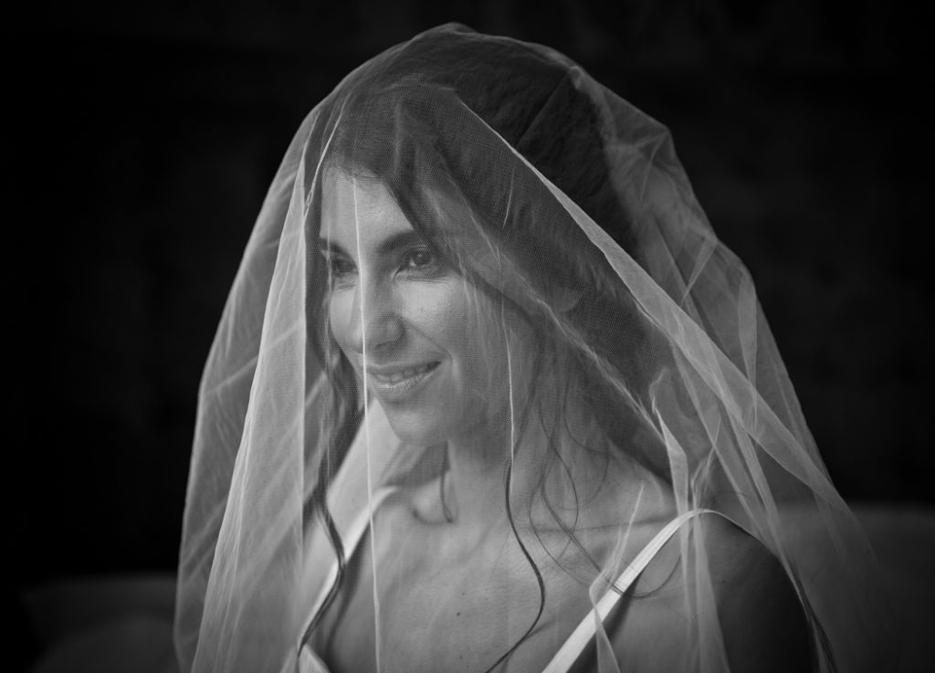 bride wedding dress veil