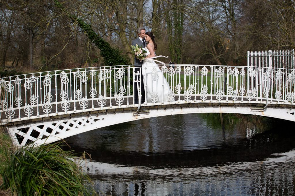 wedding bride groom bridge