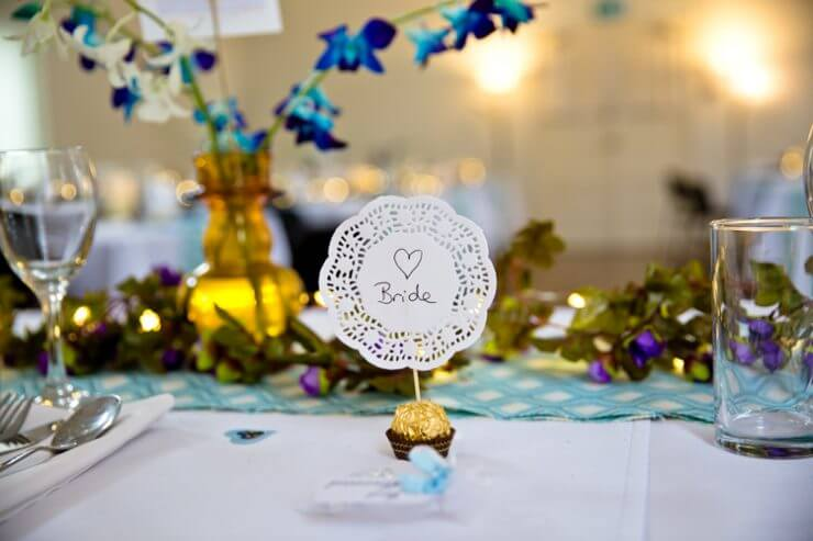 table wedding decorations