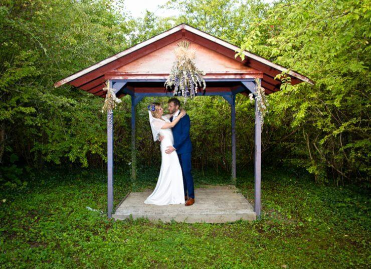 tree trees bride groom