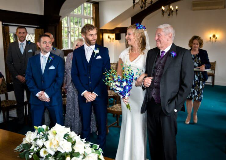 bride father groom