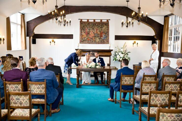 registrar wedding bride groom