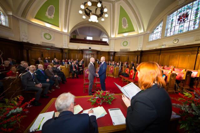 Tony & Alberto in Islington Town Hall wedding