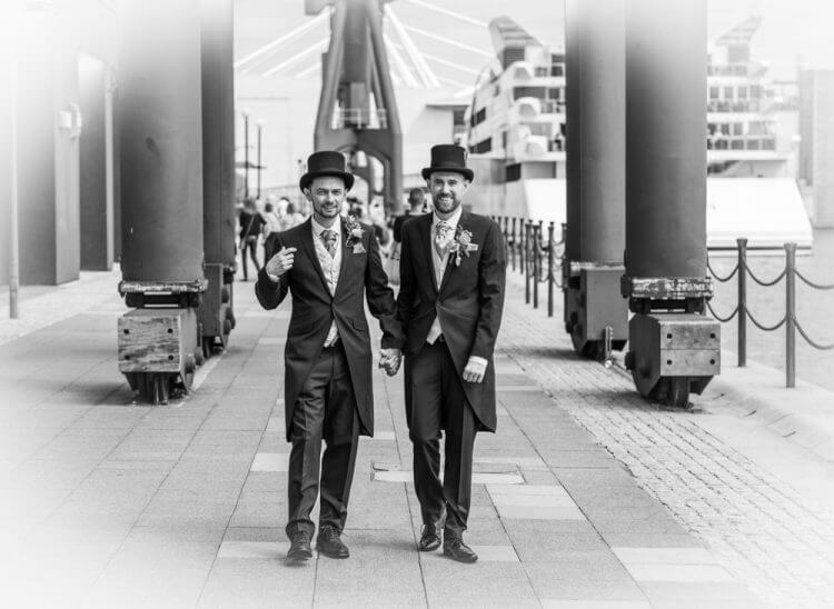 wedding, gay,docks